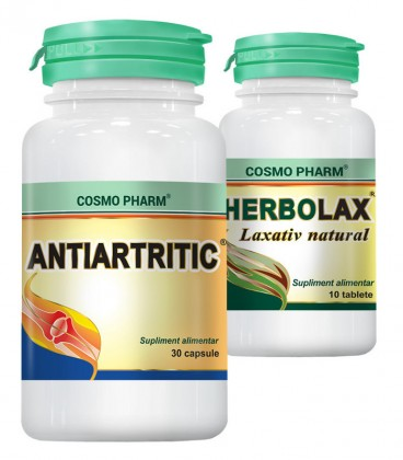 Antiartritic, 30 capsule + Herbolax, 10 tablete (promotie)