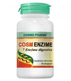 Cosm Enzime 7 enzime digestive, 10 drajeuri