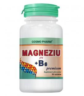 Magneziu 375 + B6 premium, 30 tablete