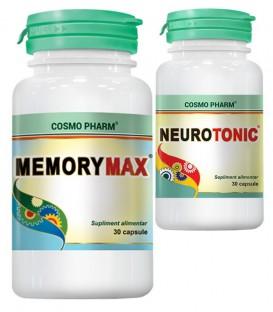 Memory Max, 30 capsule + Neurotonic, 30 capsule (promotie)