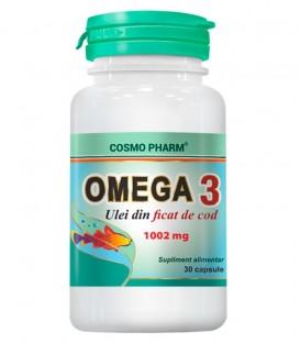 Omega 3 – Ulei de ficat de cod 1002 mg, 30 capsule