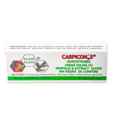 Carpicon S (supozitoare) 1 gr, 10 bucati