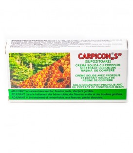 """Carpicon """"S"""" (supozitoare) 1.5 gr, 10 bucati (cutie)"""