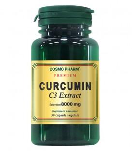 Curcumin C3 Extract 400 mg echivalent 8000 mg, 30 capsule