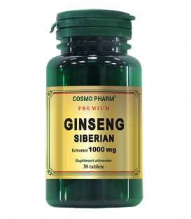 Premium Ginseng Siberian 1000 mg, 30 comprimate