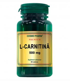 L-Carnitina 500 mg, 30 tablete