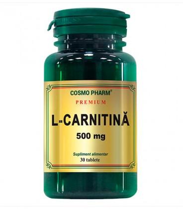 L-Carnitina 500 mg, 30 tablete