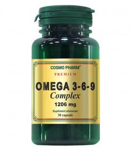 Premium Omega 3-6-9 Complex 1206 mg, 30 capsule