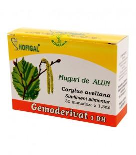 Gemoderivat din muguri de alun, 30 monodoze x 1.5 ml