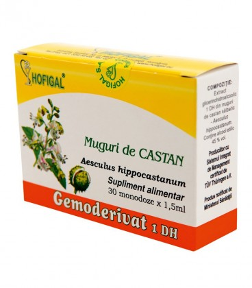 Gemoderivat de castan - muguri, 30 monodoze