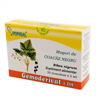 Gemoderivat de coacaz negru - muguri, 30 monodoze