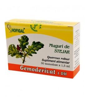 Gemoderivat din muguri de stejar, 30 monodoze x 1.5 ml