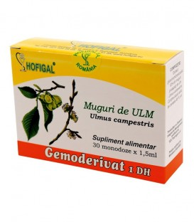Gemoderivat din muguri de ulm, 30 monodoze x 1.5 ml