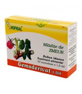 Gemoderivat din mladite de zmeur, 30 monodoze x 1.5 ml