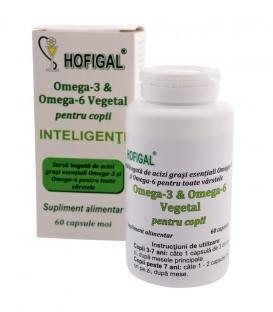 Omega 3 & Omega 6 Vegetal pentru copii, 60 capsule