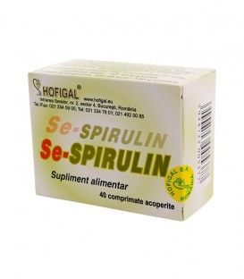 Se - Spirulin, 40 comprimate