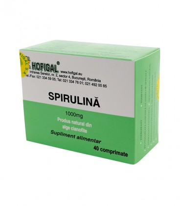 SPIRULINA 1000MG, 40CPR