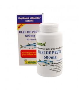 Ulei de peste 600 mg, 60 capsule