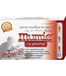 Mumie cu ginseng (extract purificat de rasina), 30 capsule