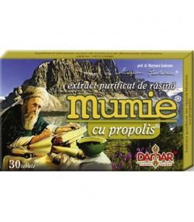 Mumie cu propolis (extract purificat de rasina), 30 tablete