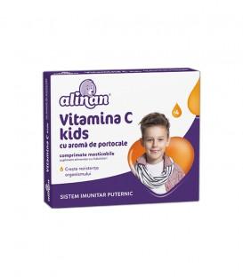 Alinan Vitamina C Kids Portocale, 20 comprimate
