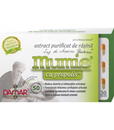 Extract purificat de rasina Mumie cu propolis 30 CPS