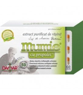 Mumie cu propolis (extract purificat de rasina), 60 capsule