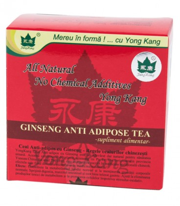 Ceai Antiadipos cu Ginseng - Yong Kang, 30 plicuri