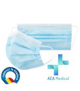 Set 50 Masti medicale faciale de unica folosinta, BFE ≥ 95%, tip I (FFP 1), albastre