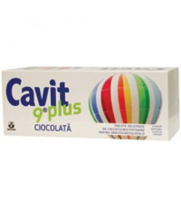 Cavit 9 Plus Ciocolata 20 TBL masticabile