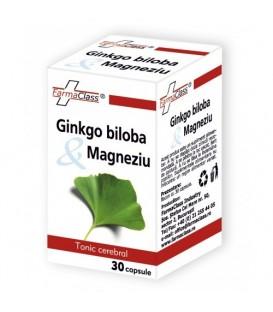 Ginkgo biloba & Magneziu, 30 capsule
