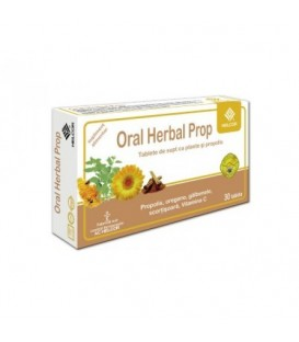 Oral Herbal Propolis cu aroma de scortisoara, 30 tablete