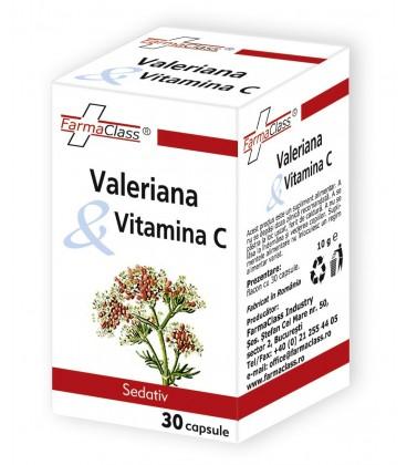 Valeriana Vitamina C, 30 capsule