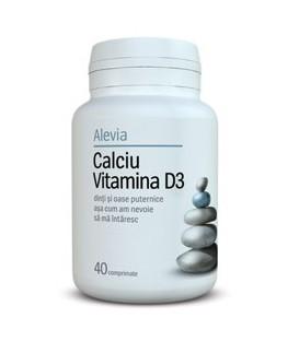 Calciu + Vitamina D3, 40 capsule