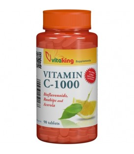 Vitamina C 1000 mg cu bioflavonoide, 90 tablete