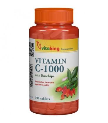 Vitamina C, 1000 mg cu macese, 100 comprimate