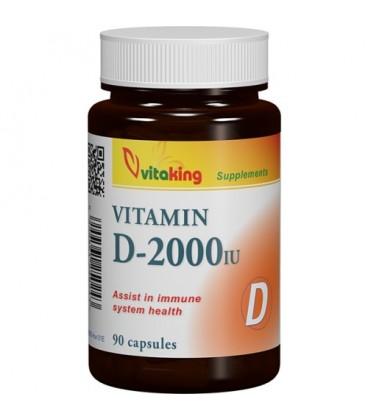 Vitamina D3, 2000UI, 90 capsule
