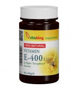 Vitamina E naturala 400 UI, 60 capsule