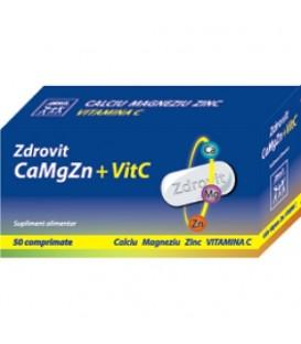 Calciu + magneziu + zinc + vitamina C, 50 tablete