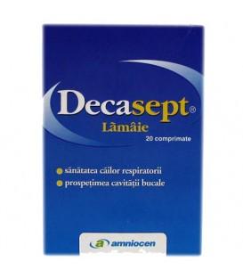 Decasept cu lamaie, 20 tablete
