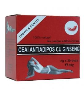 Ceai Antiadipos cu ginseng, 30 doze