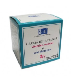 Crema hidratanta cu vitamine, musetel si acid hialuronic, 50 ml