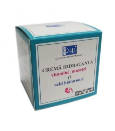 Crema hidratanta, Vitamine musetel si Acid hialuronic, 50 ml