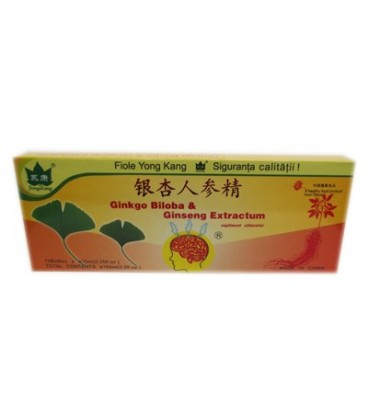 Fiole Ginkgo Biloba & Ginseng Extractum 10 fiole X 10 ml