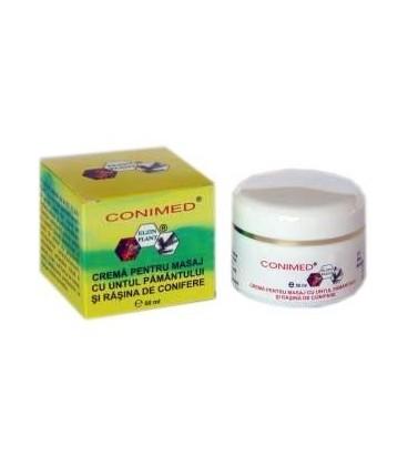 Conimed - Crema pentru masaj cu untul pamantului si rasina de conifere, 50 ml