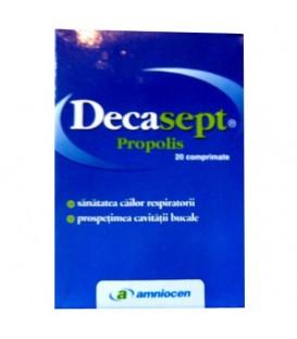Decasept cu propolis, 20 tablete