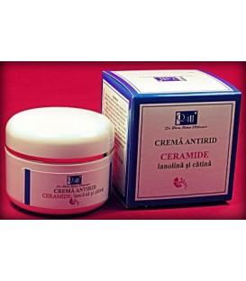 Crema antirid ceramide, lanolina si catina, 50 ml