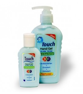 Touch Gel 3 in 1 - gel antibacterian, 59 ml