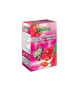 Ceai de macese si hibiscus, 75 grame