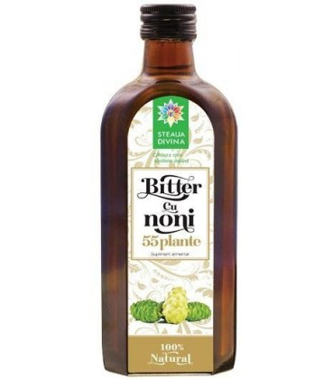 Bitter cu noni 55 plante, 250 ml